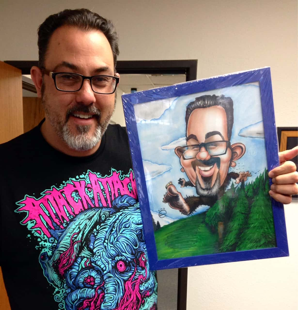 Custom Hand Drawn Color Caricature drawn By San Diego Caricaturist Cameron Canales