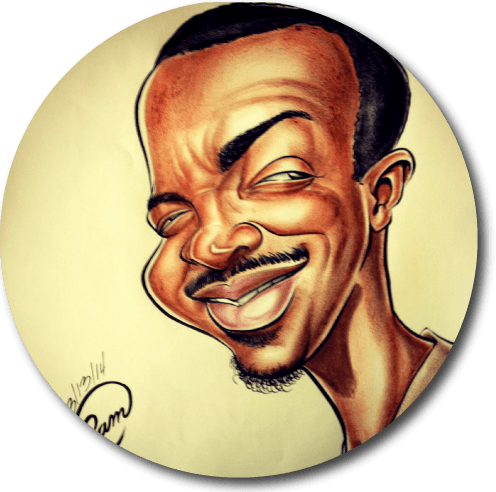 Custom Color Caricature Headshot from Photo