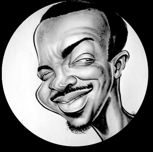 Custom Grayscale Caricature Headshot from Photo